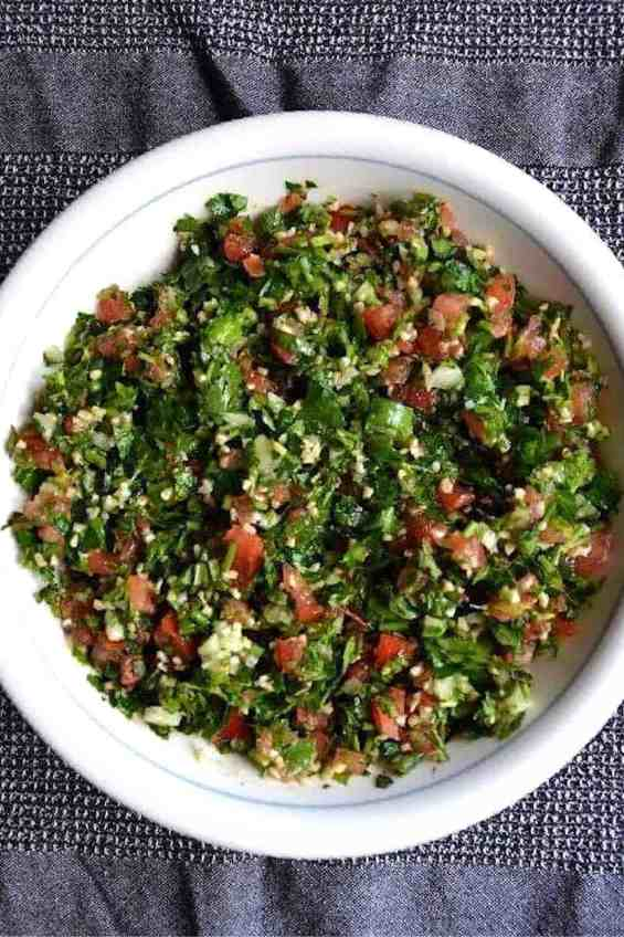 The best Traditional Lebanese Tabbouleh, Vegan. maninio.com