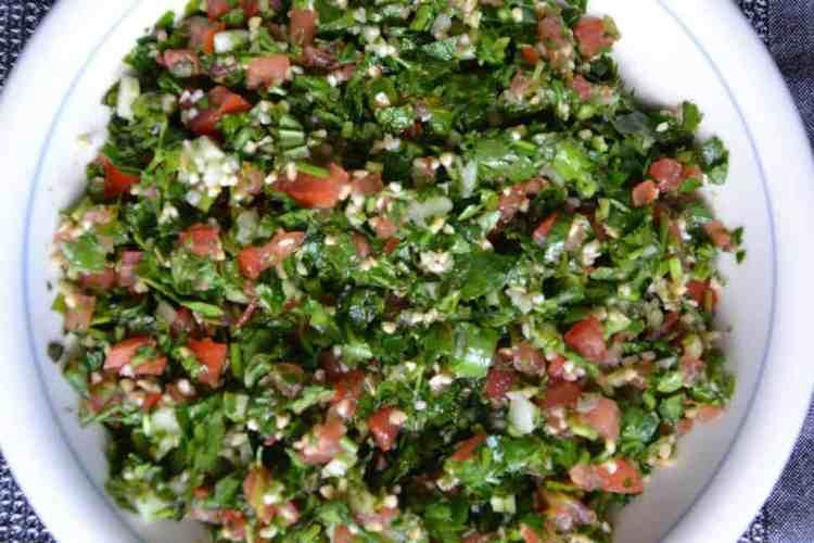 Arabic Lebanese Tabbouleh, Vegan. maninio.com