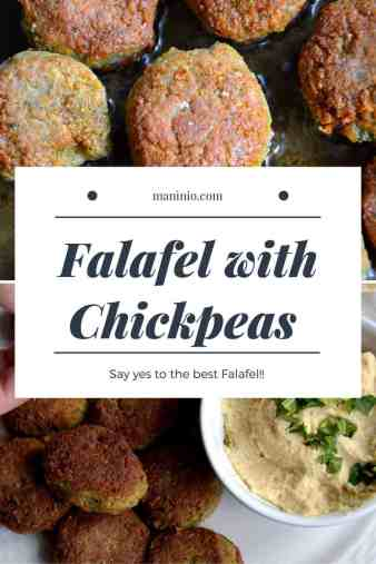 The best Original Falafel with Chickpeas | Middle East. Vegan and Gluten-free. maninio.com #chickpeasfalafel #arabicfalafe