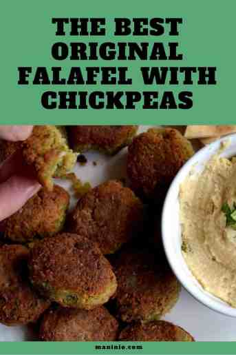 The best Original Vegan and Gluten-free Falafel with Chickpeas | Middle East.maninio.com #veganfalafel #arabicfalafel