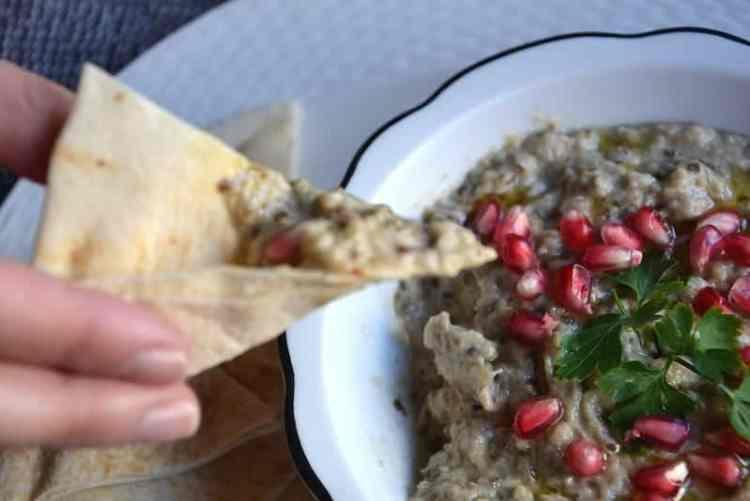 Combine with pitta bread- Arabic Moutabal maninio.com