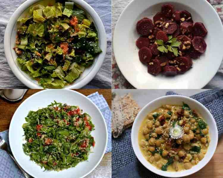 Best 20+ New Year's Menu Ideas | Lunch and Dinner | Vegan, chickpeas, beetroots.maninio.com Salads