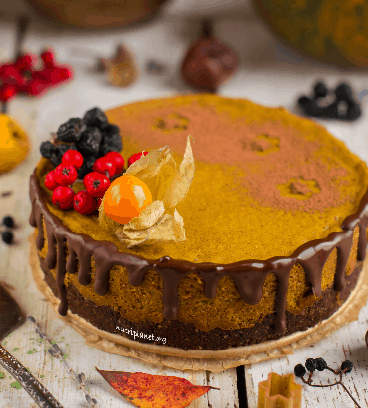 Tofu and Pumpkin Cheesecake [Vegan and Gluten-Free]. maninio.com. Christmas Desserts