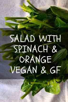 Salad with Spinach and Orange | Vegan & Gluten free. maninio.com #vegan salads