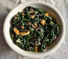 Σαλάτα με Σπανάκι και Πορτοκάλι | Vegan & Χωρίς Γλουτένη. maninio.com