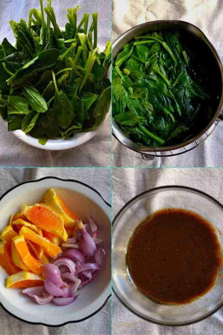ingredient for Salad with Spinach and Orange | Vegan & GF. maninio.com