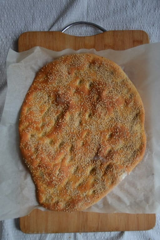 Lagana is ready, Greek Lagana bread with star anise (Clean Monday) | Vegan