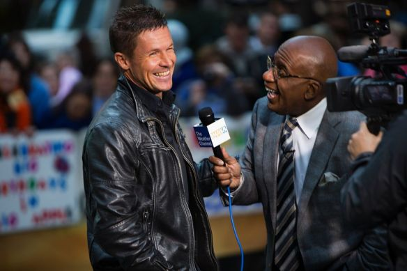 Felix Baumgartner of Austria interviews with Al Roker on the Today Show in New York City, NY on October 22, 2012 // Brian Nevins/Red Bull Content Pool