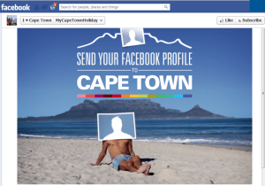 Send Your Facebook Profile on Holiday to Cape Town
