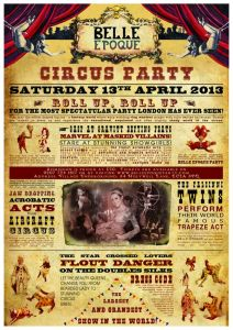 Roll Up for the Belle Époque Circus Party