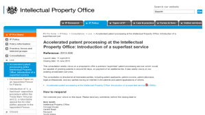 New Proposals To Introduce 'Superfast' Patent Service