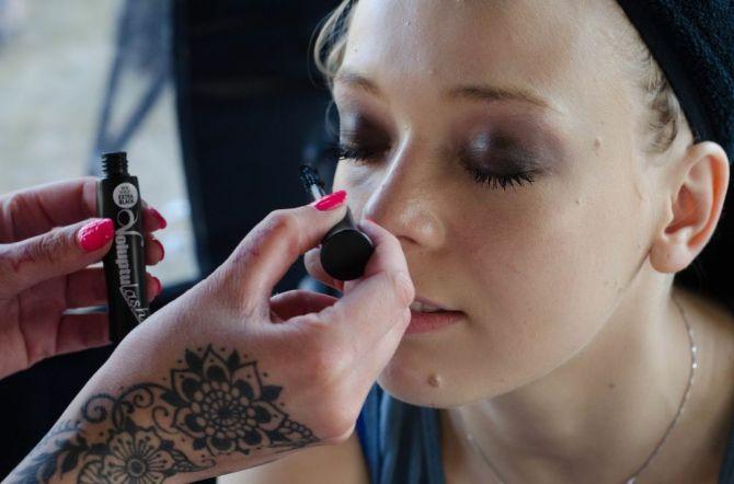 Fiona Chapman, Vanity Van, Latitude,, Goddess, Miners eyeshadow, Voluptulash, Miners extreme mascara