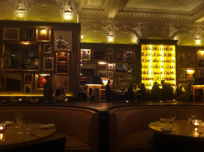 Interior of Berners Tavern at The London Edition Hotel