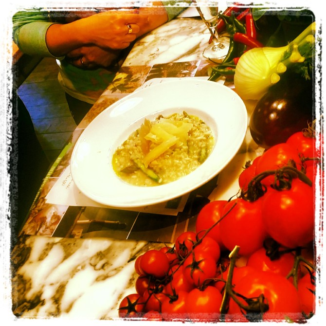 Asparagus Risotto at Spaghetti House