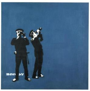 BANKSY:  The Unauthorised Retrospective at Sotheby's S|2 gallery in London