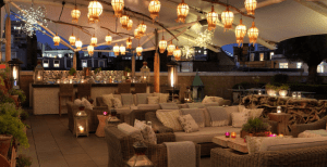 he rooftop terrace, another of the hotel's private events spaces, has sweeping views of the Soho skyline.