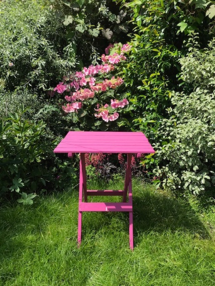 Pink Garden furniture
