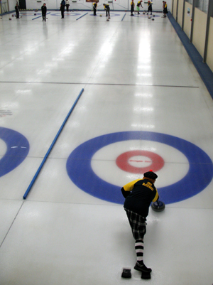 Naseby - where you can have a go at curling in the Southern Hemisphere's only indoor Olympic standard rink