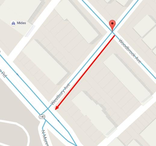Westbury Ave – Směr postupu