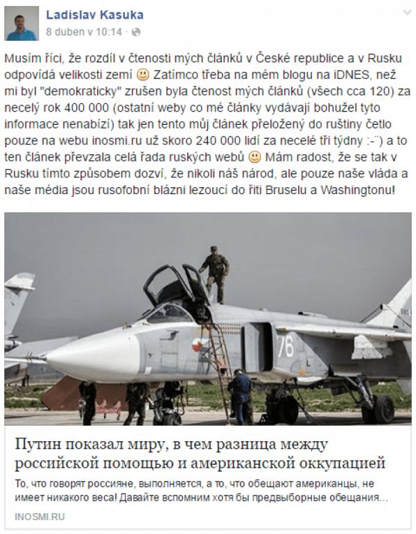 Češi jsou za Rusko a za Putina (facebook.com)