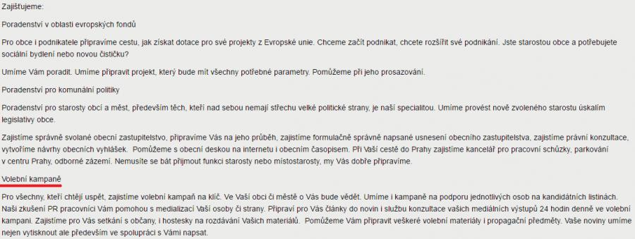 Předmět podnikání (agenturaregio.cz)