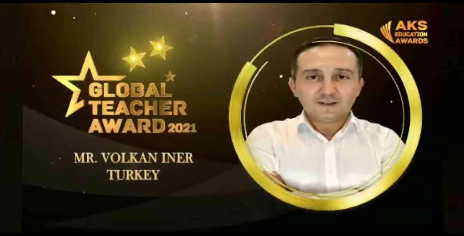 Manisalı öğretmen 'Küresel Öğretmen' ödülünü aldı