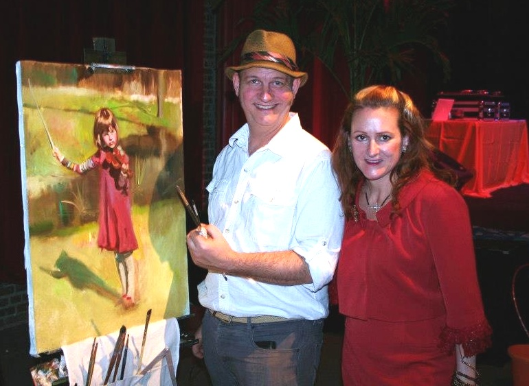 Orphan Relief Gala Performance Painting