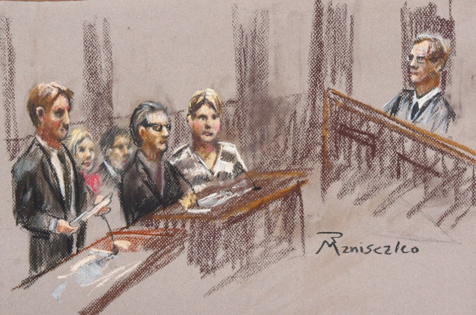 Dorothy Lee Barnett Courtroom sketch