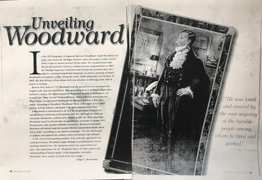 Augustus Woodward Unveiling