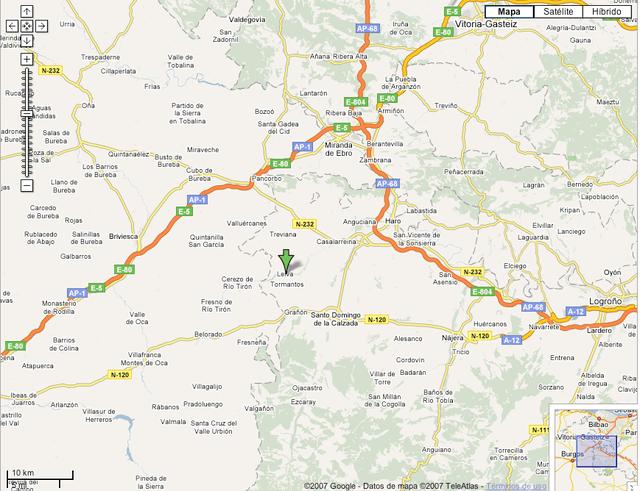 mapa Leiva