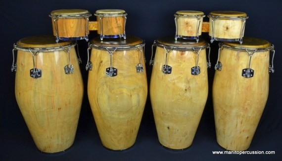 Maple Congas with bongos