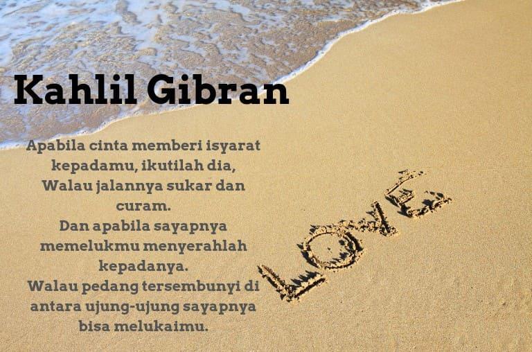 puisi cinta kahlil gibran yang penuh makna
