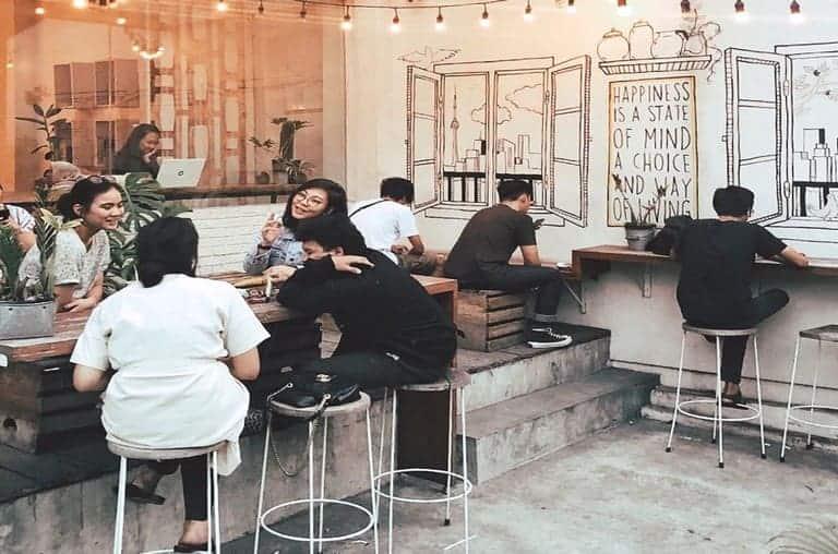 tempat nongkrong di bintaro pigeonhole coffee