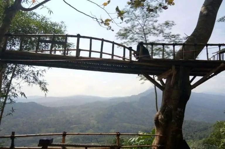 tempat wisata ciamis puncak bangku rancah