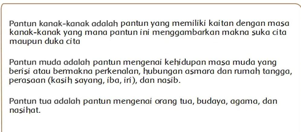 Definisi Tentang Pantun Kanak Kanak