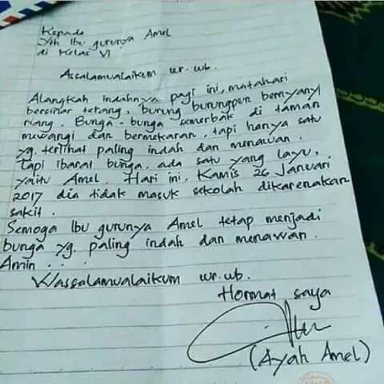 Surat Izin Tidak Masuk Kuliah Tulis Tangan