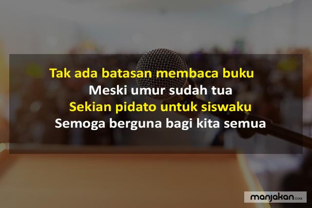 Pantun Penutup Pidato Di Sekolah