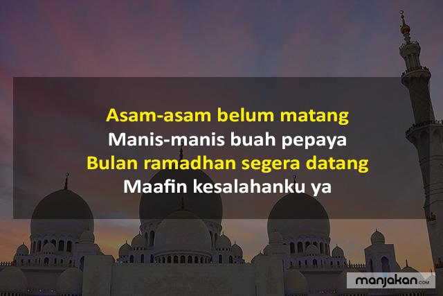 Pantun Ramadhan Memohon Maaf