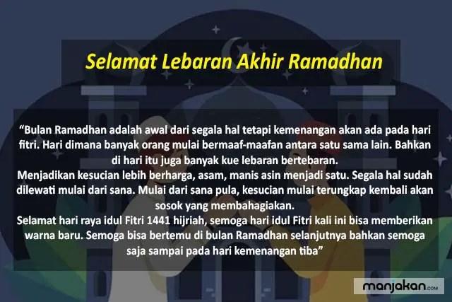Selamat Lebaran Akhir Ramadhan