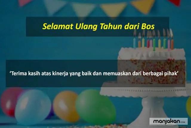 Selamat Ulang Tahun Dari Bos