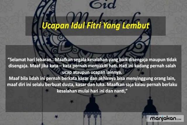 Ucapan Idul Fitri Yang Lembut