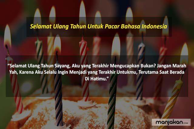 Ulang Tahun Untuk Pacar Bahasa Indonesia