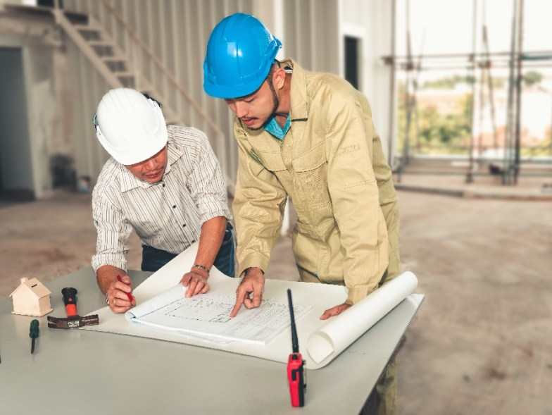 Project Engineer Team Of Construction Industrial In Site Erectio