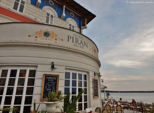 Piran hotel is a ship!
