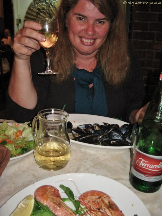 And a seafood dinner at Gennaro's in Orbetello. Cin cin!