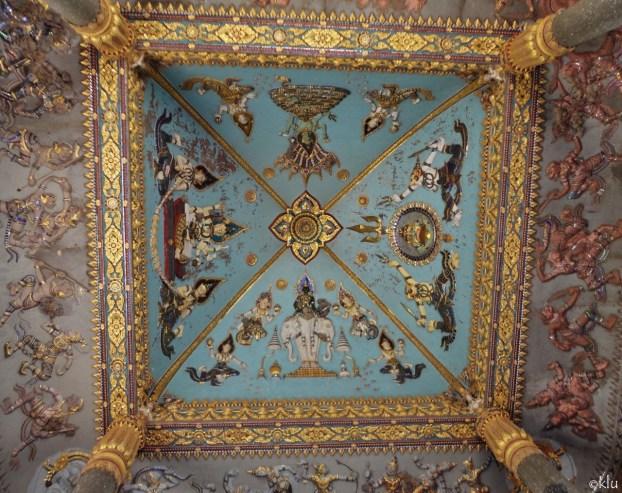 The ceiling of Patuxai Arch, Vientiane, Laos.
