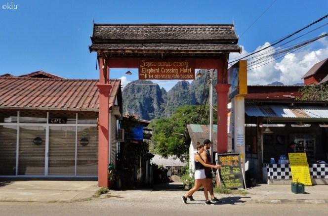 Elephant Crossing Hotel. Vang Vieng, Laos.