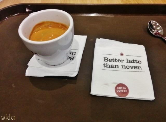 Latte at Oman airport.