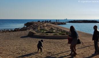 Three seashore views.