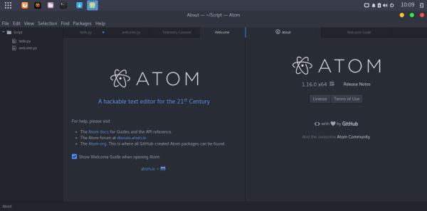 install atom on manjaro